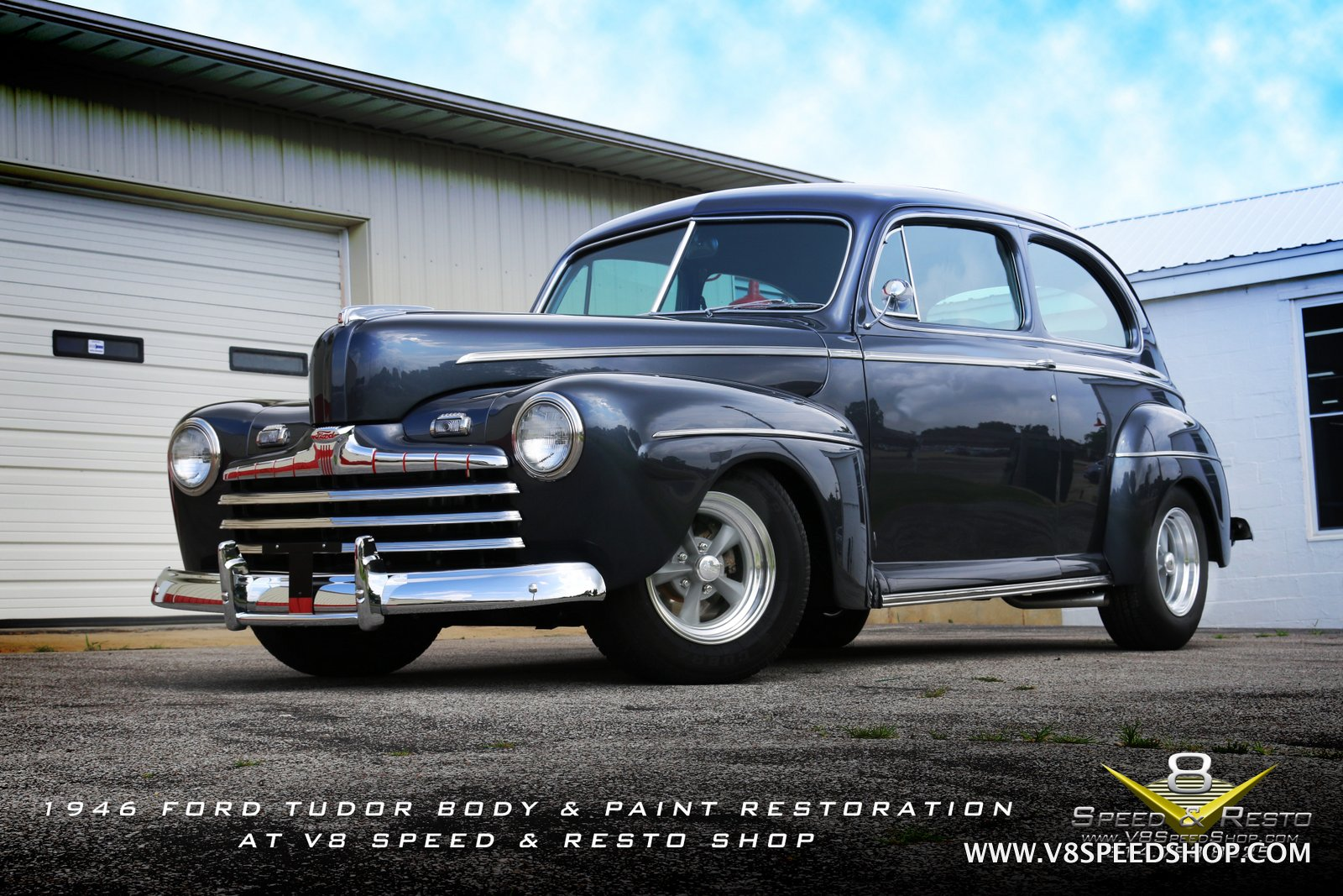 1946 Ford Tudor Restoration Photo Gallery at V8 Speed & Resto Shop