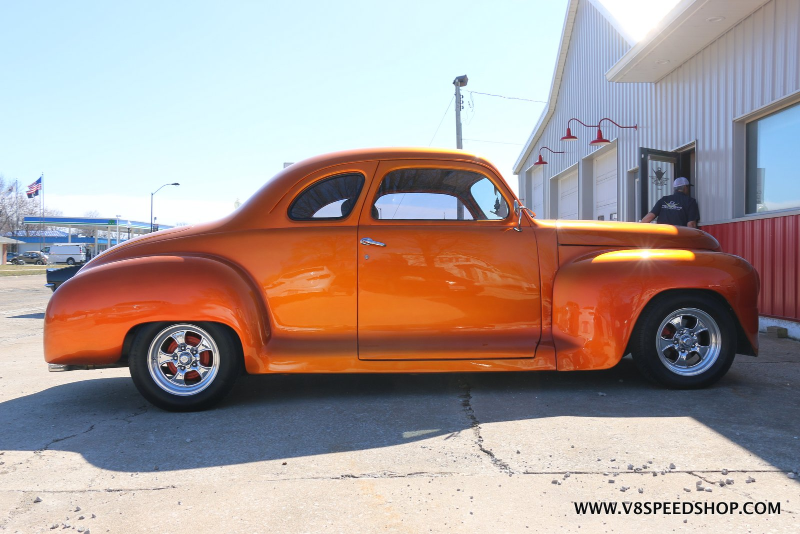 1947 Plymouth Businessman's Coupe Maintenance at the V8 Speed and Resto Shop