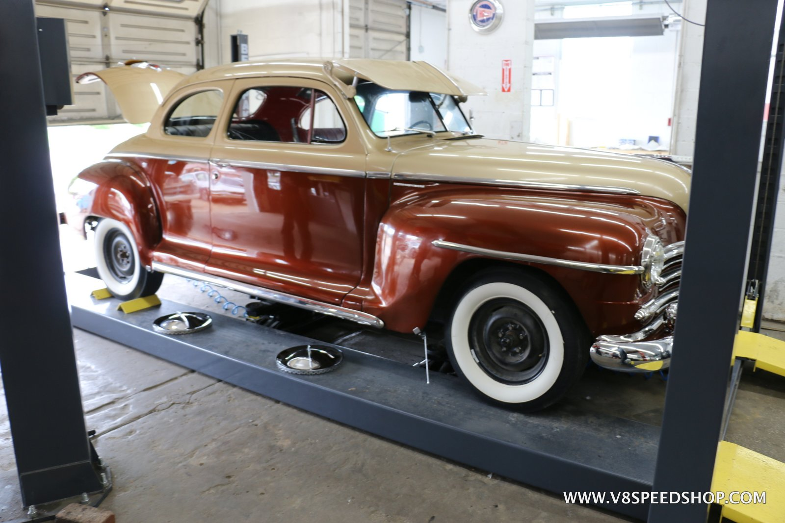 1948 Plymouth Maintenance at the V8 Speed and Resto Shop