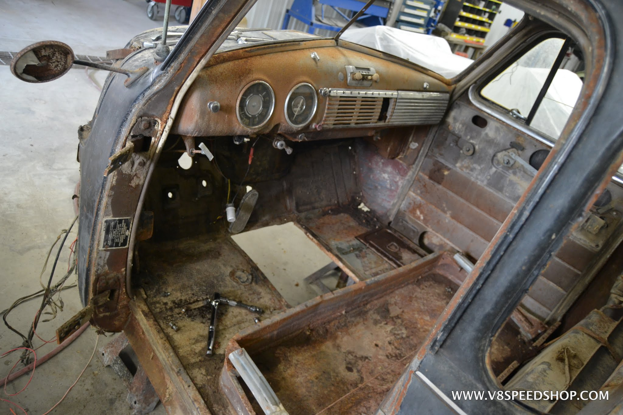 1951 Chevrolet Dump Pickup Truck Restoration Photo Gallery V8tv Chevy Steering Wheel Click To Enlarge Image Pu Gh 05 10 16 0011