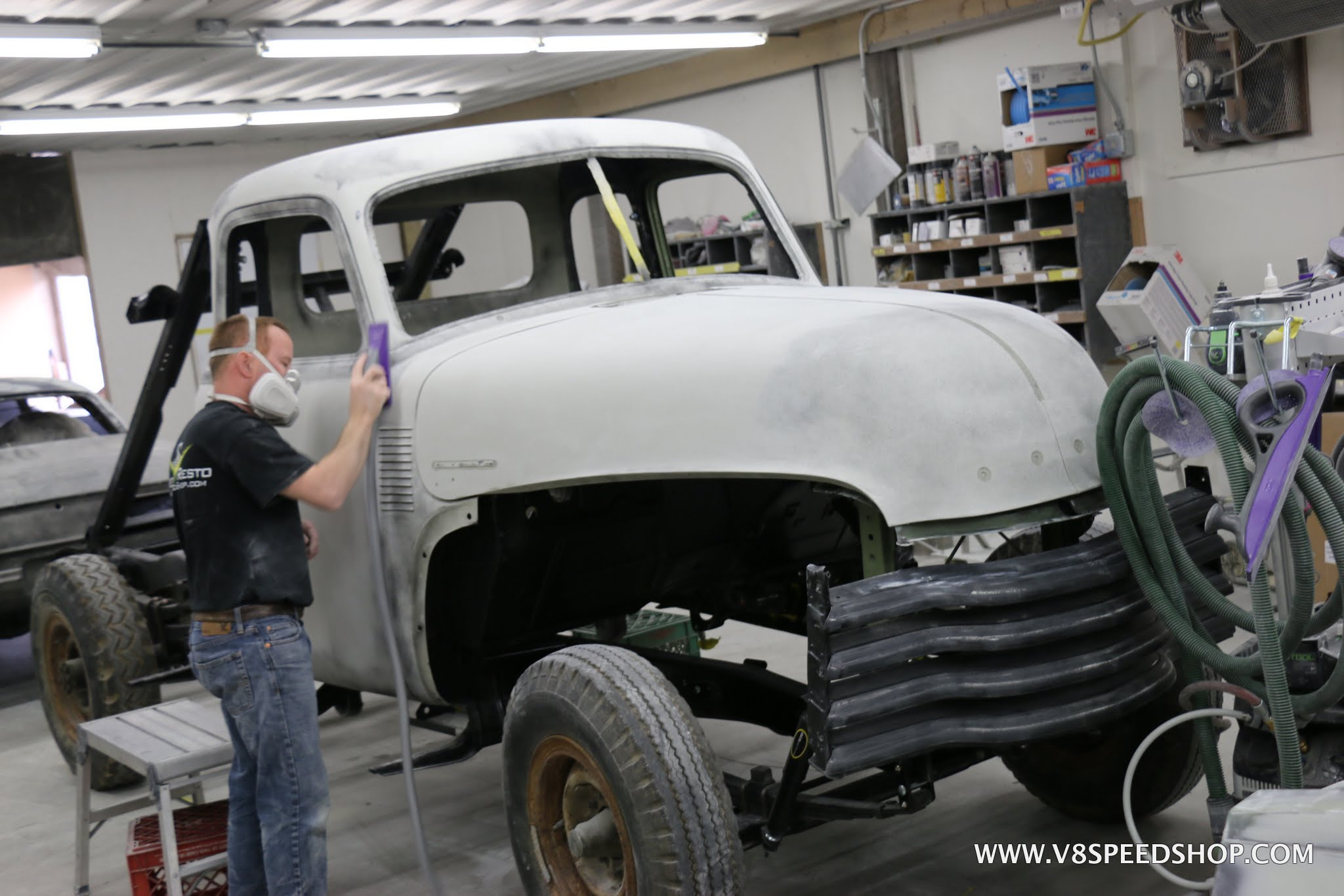 1951 Chevrolet Dump Pickup Truck Restoration Photo Gallery V8tv Page 6 Of 8 Click To Enlarge Image Chevy Pu Gh 04 11 17 0039
