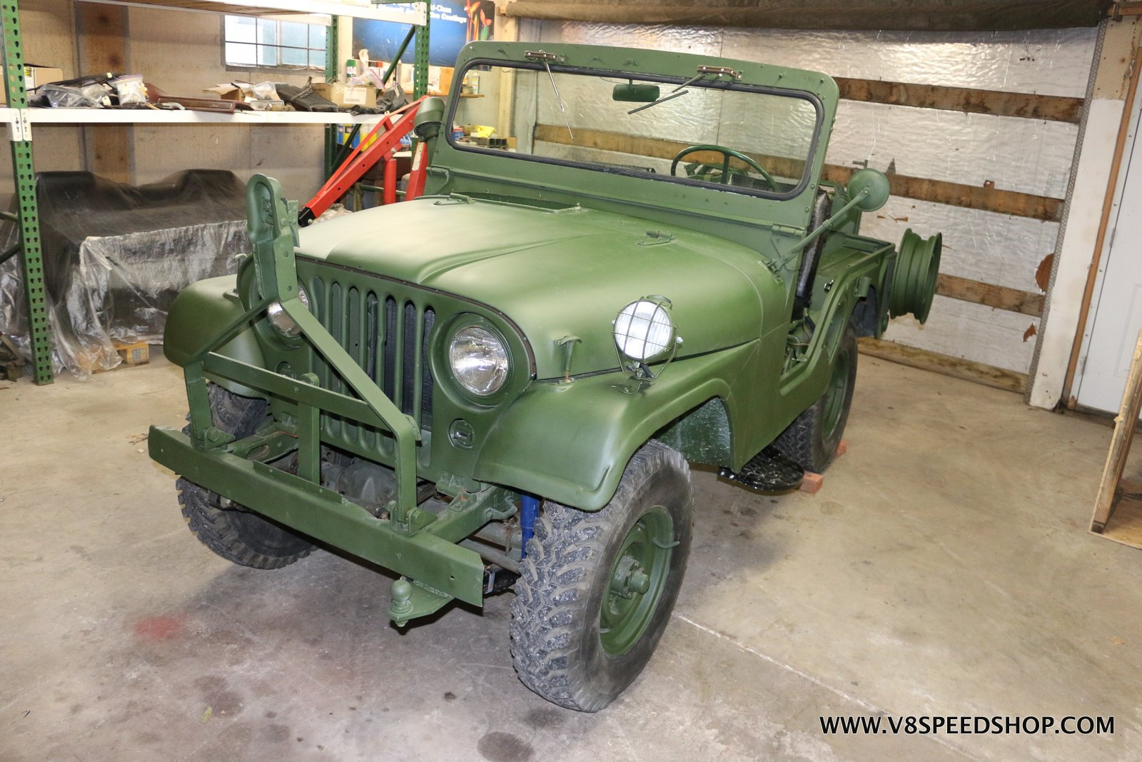 1952 Willys Jeep M38A1 Maintenance at the V8 Speed and Resto Shop