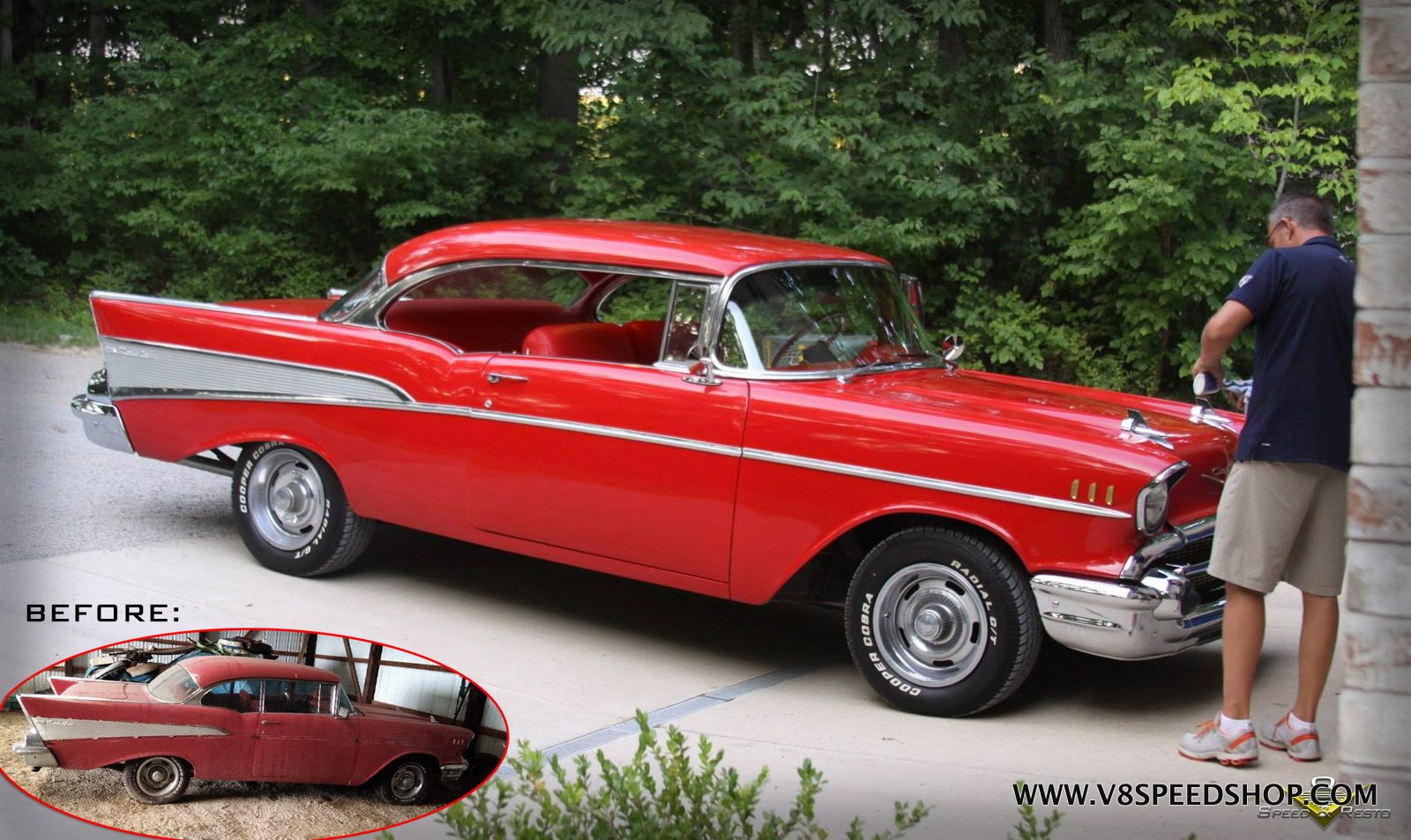 1957 Chevrolet Bel Air Chassis & Floor Restoration at V8 Speed & Resto Shop