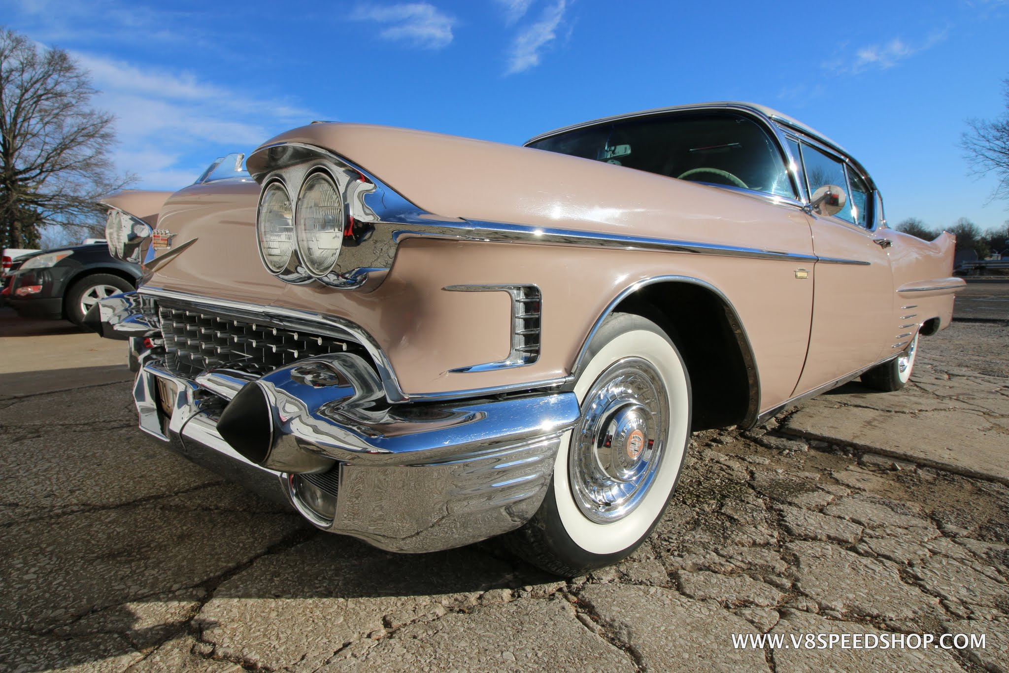 1958 Cadillac Maintenance At The V8 Speed & Resto Shop