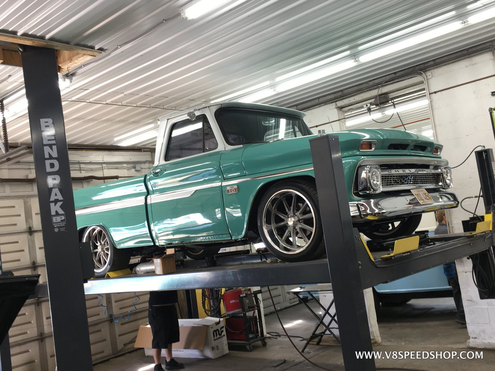 1966 Chevrolet C10 Exhaust Upgrades at the V8 Speed and Resto Shop