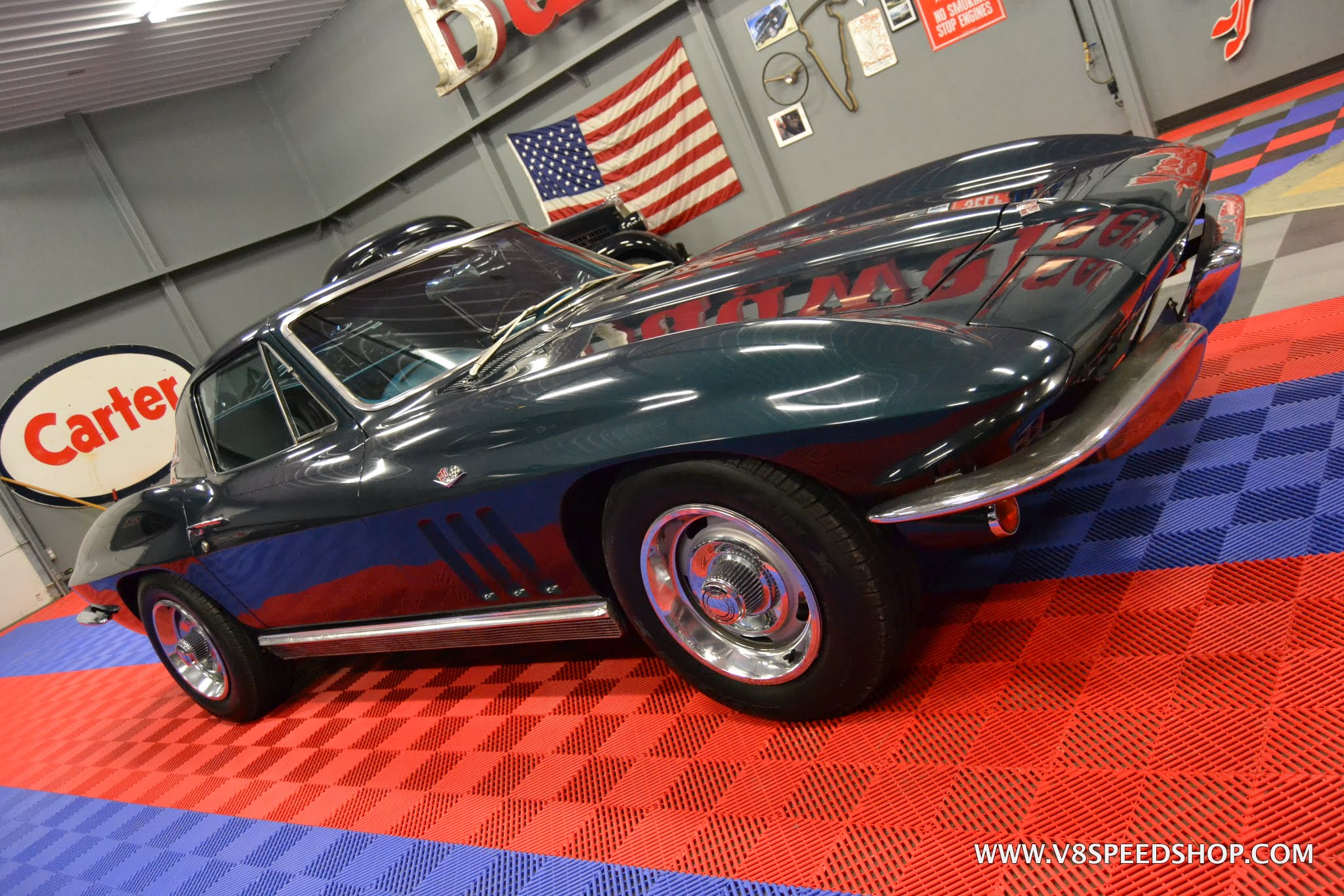 1966 Chevrolet Corvette Maintenance at V8 Speed & Resto Shop