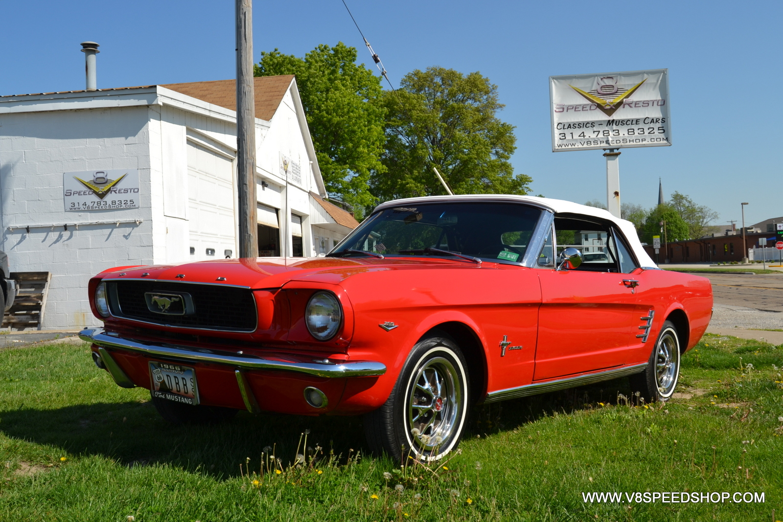 1966 Ford Mustang Brakes, Tuneup, Interior, and Convertible Top Restoration at the V8 Speed and Resto Shop