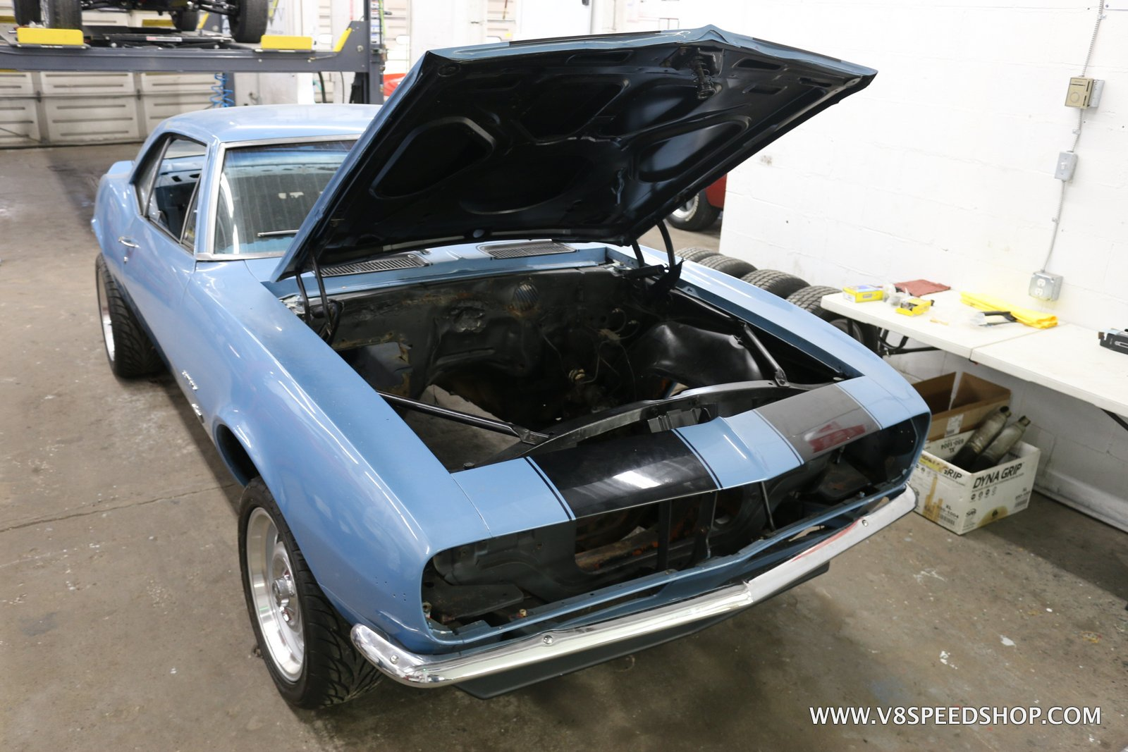 1967 Chevrolet Camaro Restoration and LSA Upgrades at the V8 Speed and Resto Shop