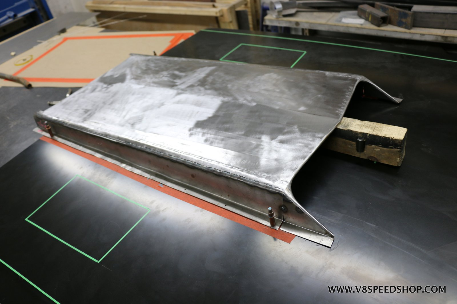 1967 Ford Mustang Custom Steel Hood Fabrication Photo Gallery