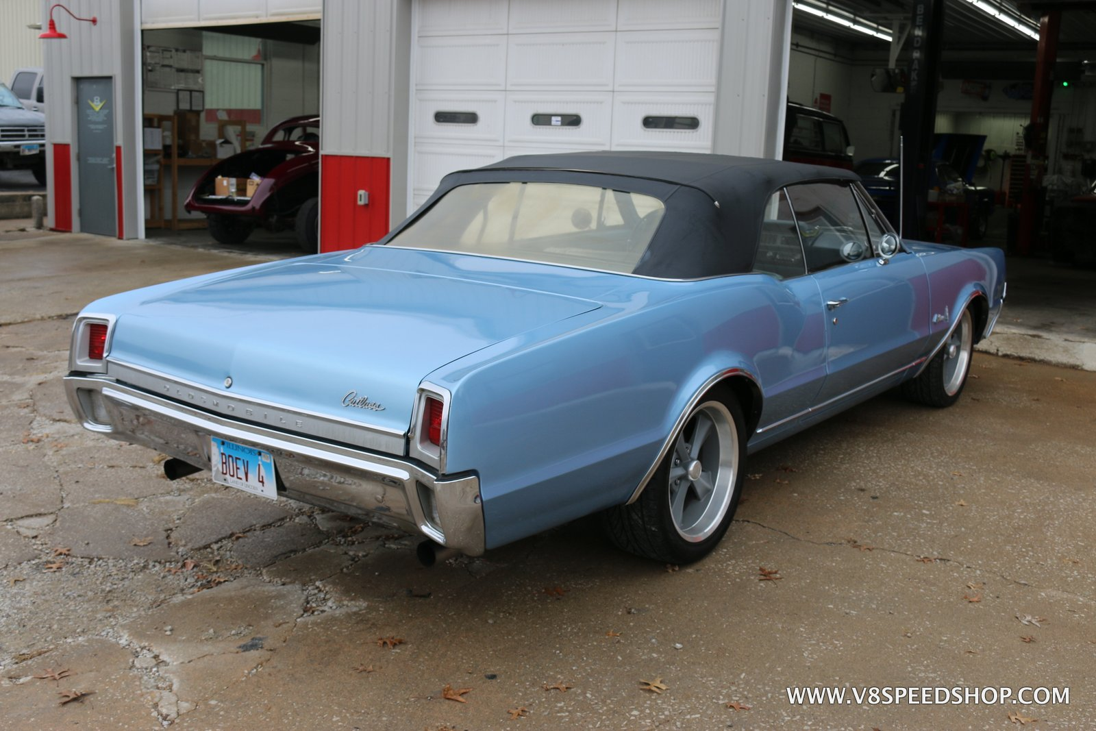 1967 Oldsmobile Cutlass Convertible LS Maintenance at the V8 Speed and Resto Shop