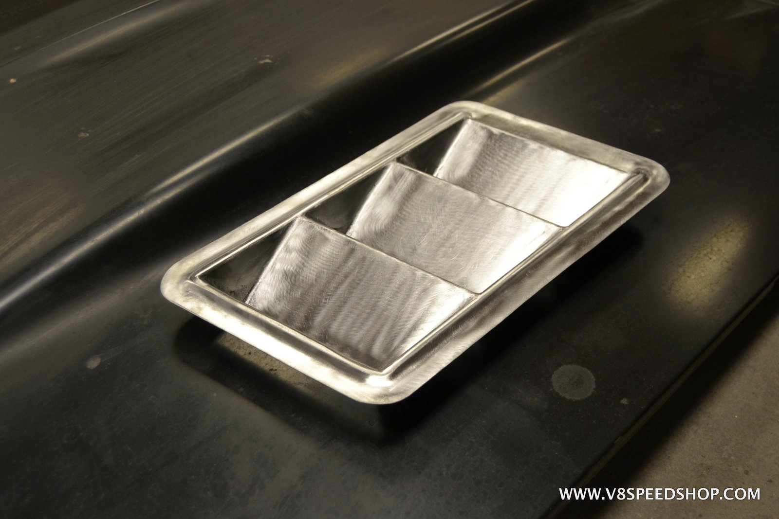1969 Chevrolet Camaro Fabricating Custom Steel Hood Vents at V8 Speed & Resto Shop