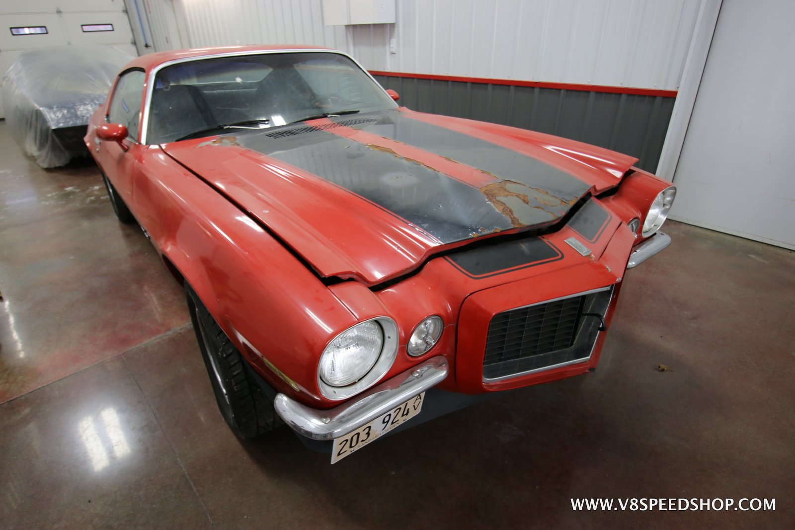 1970 Chevrolet Camaro RS Z28 Body and Paint Restoration at V8 Speed and Resto Shop