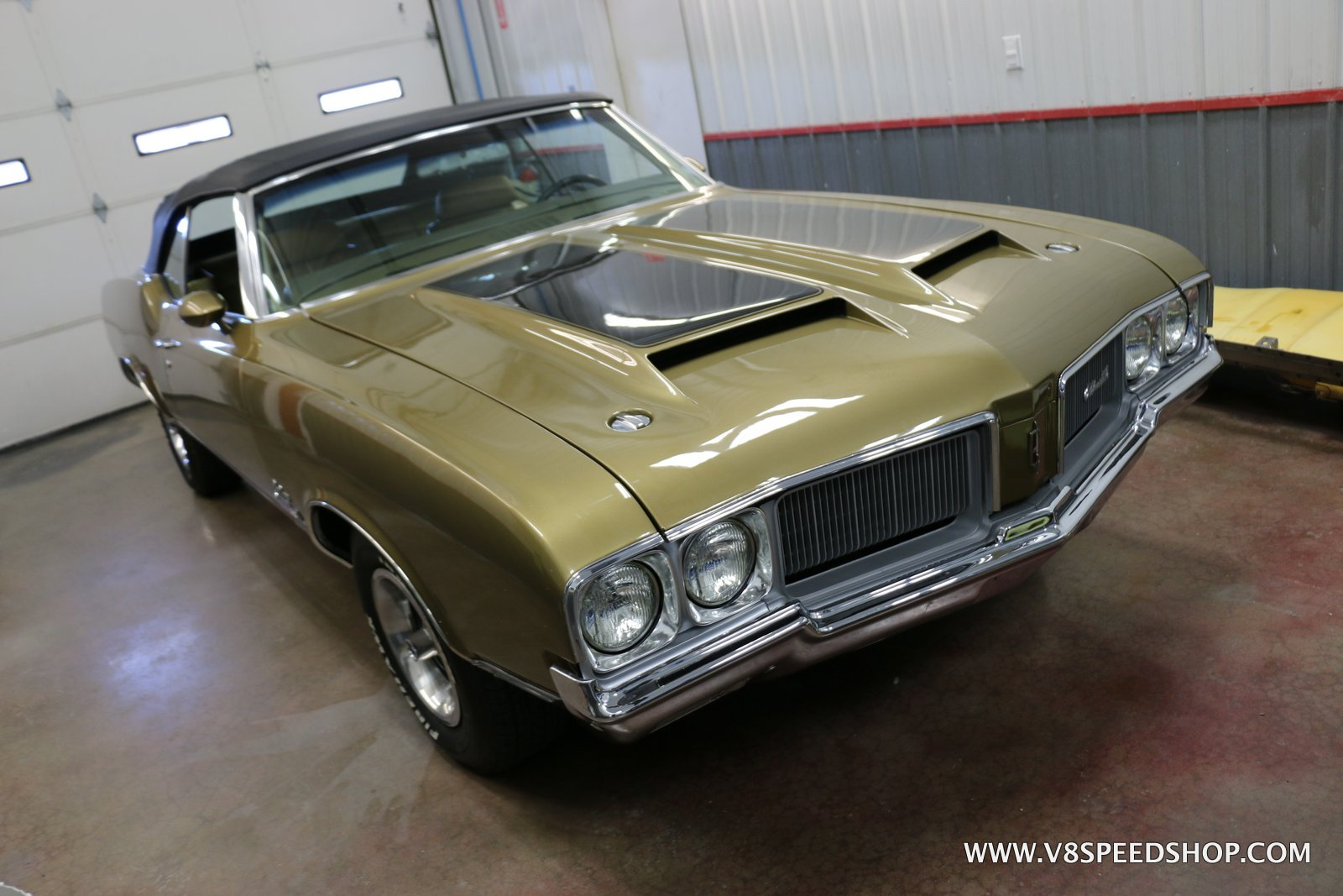 1970 Oldsmobile Cutlass Convertible Fuel Injection at V8 Speed & Resto Shop