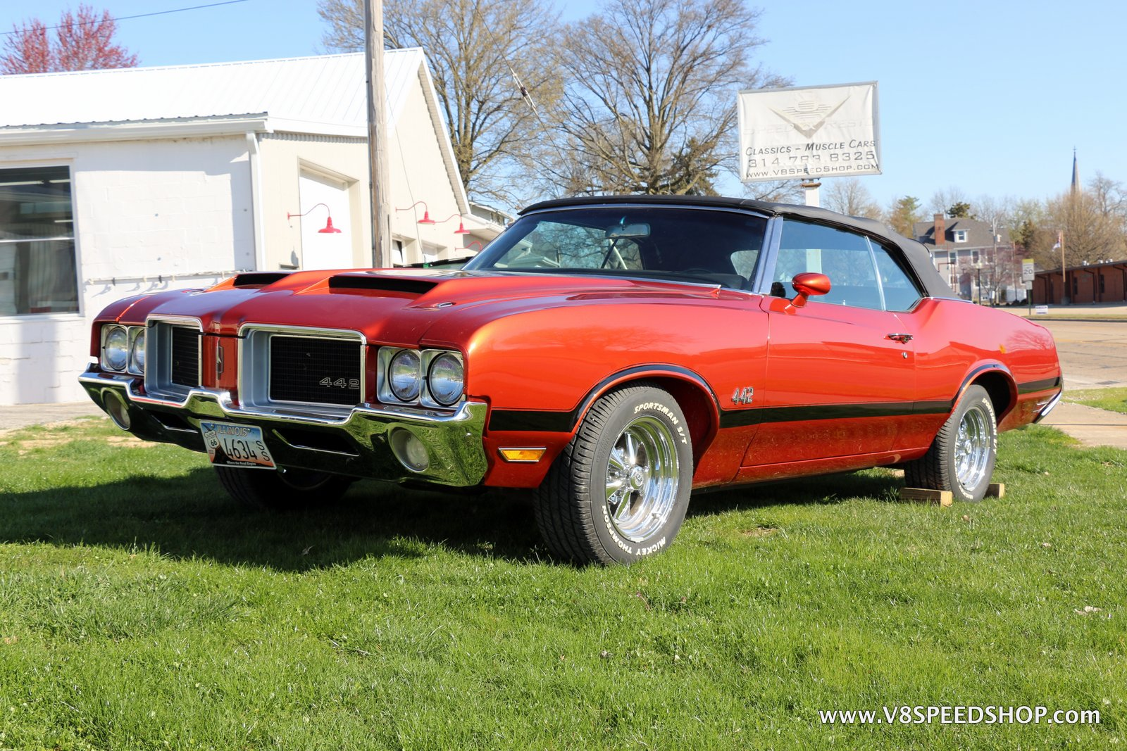 1971 Oldsmobile 442 Convertible Maintenance at V8 Speed & Resto Shop