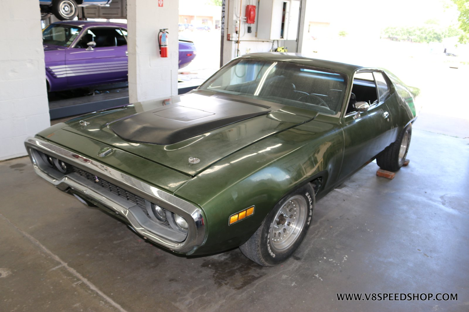 1971 Plymouth Road Runner Repairs at the V8 Speed and Resto Shop