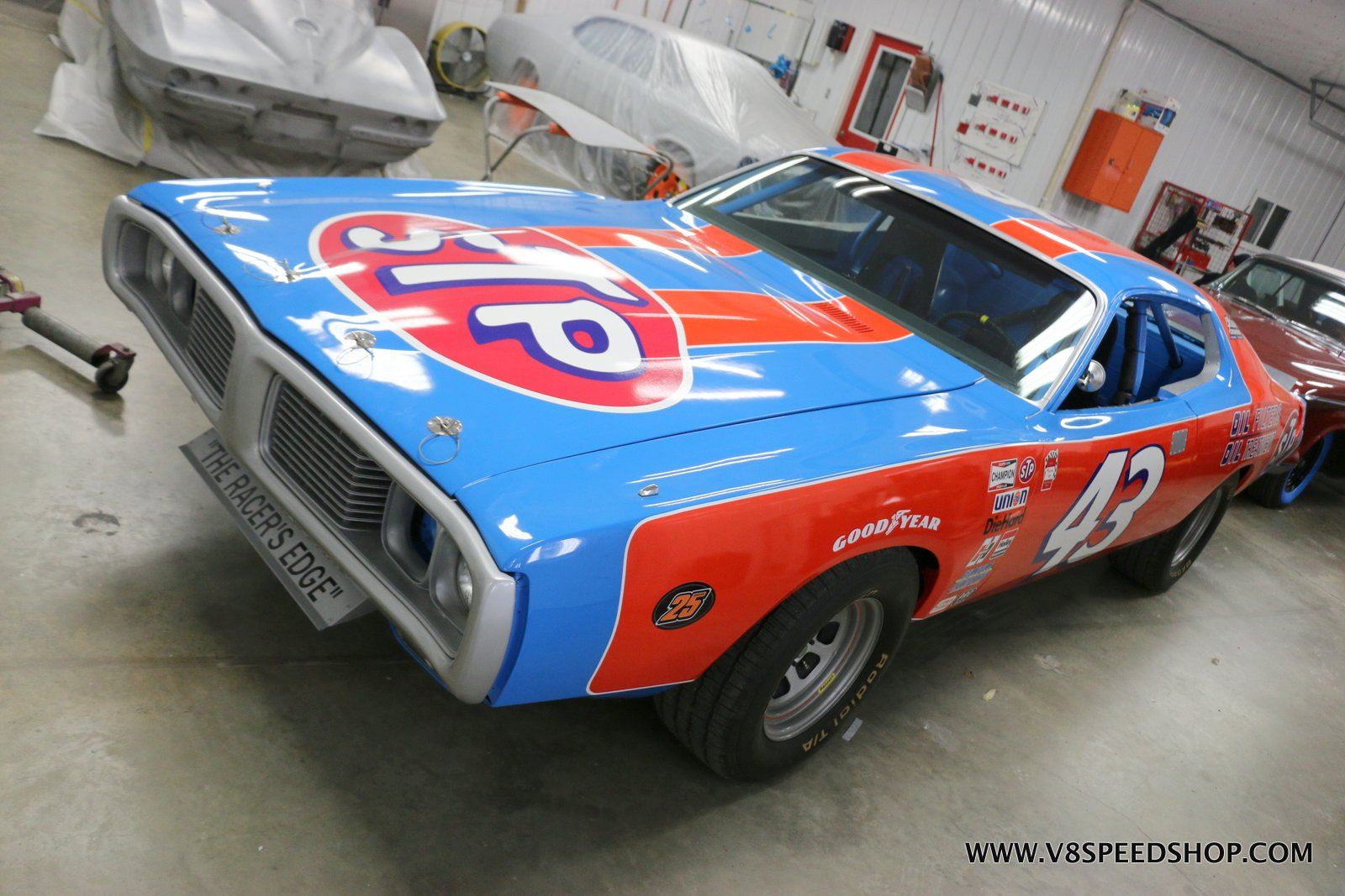 1973 Dodge Charger Richard Petty Stock Car Maintenance at V8 Speed and Resto Shop