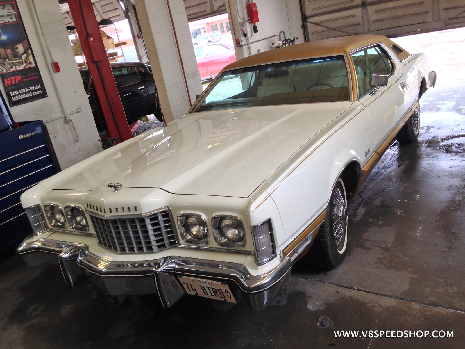 1974 Ford Thunderbird Maintenance at V8 Speed and Resto Shop Photo Gallery