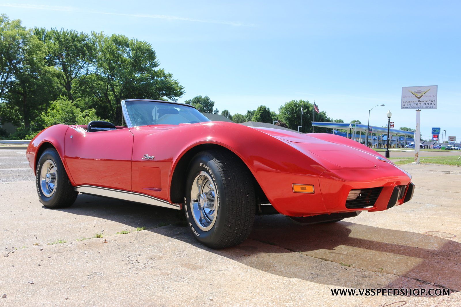 1975 Chevrolet Corvette Maintenance at V8 Speed & Resto Shop