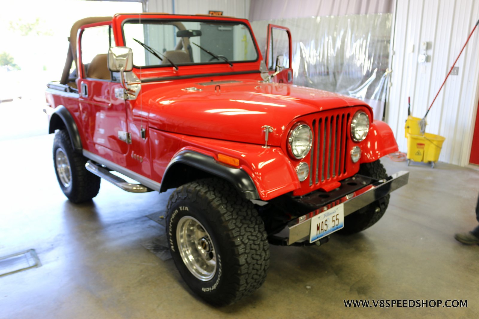1979 Jeep CJ Maintenance at the V8 Speed and Resto Shop