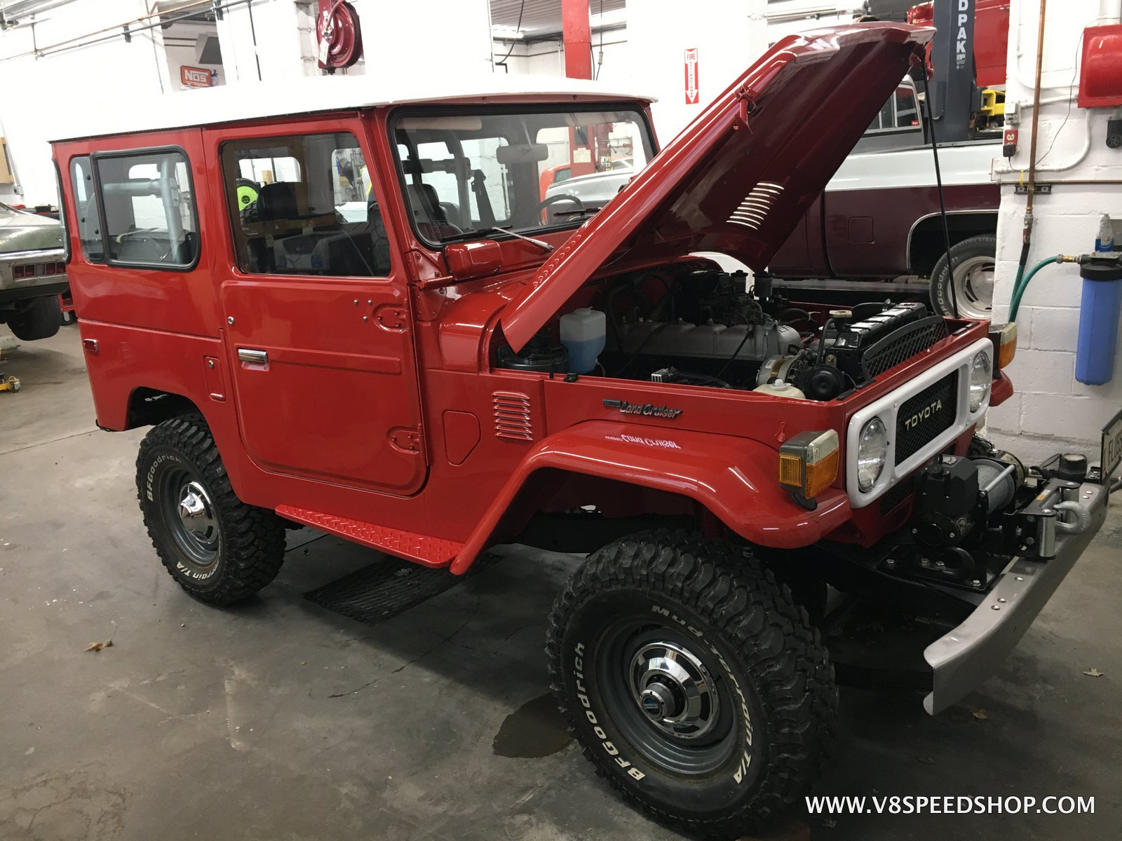 1979 Toyota Land Cruiser Maintenance at the V8 Speed and Resto Shop
