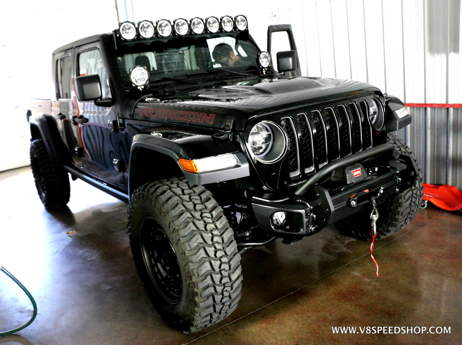 2020 Jeep Gladiator Lighting, Bumper, and Winch Upgrades at the V8 Speed and Resto Shop