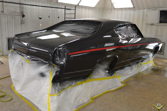 1969 Chevelle in Paint Booth