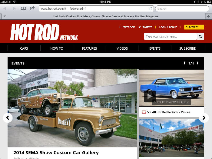 Mr. Chevy on Hot Rod Website