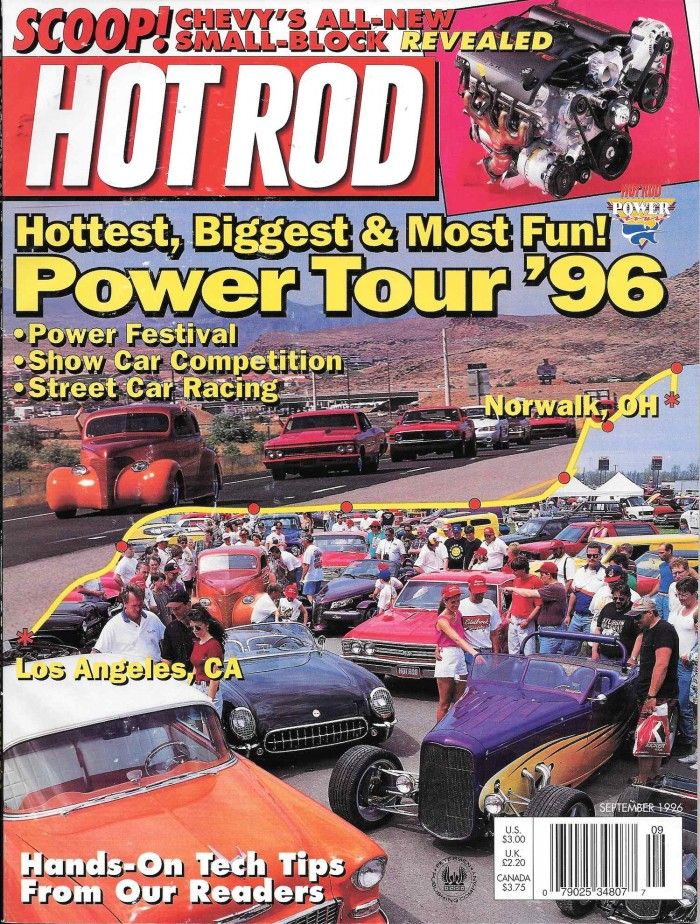 September, 1996 Hot Rod Magazine Cover