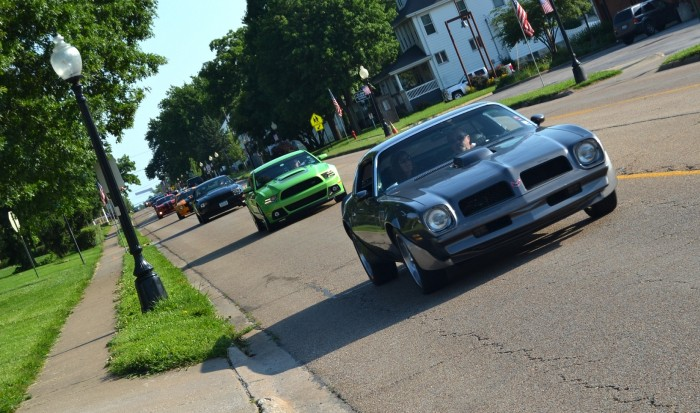 Hot rods cruising
