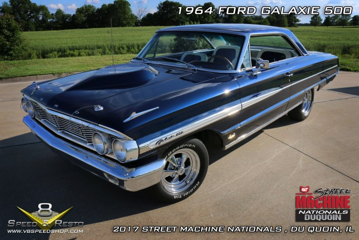 1964 Ford Galaxie shown at 2017 Street Machine Nationals in DuQuoin, IL