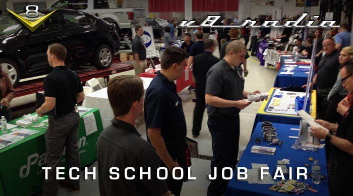 V8 Radio:  Tech School Job Fair and Working In The Auto Enthusiast Industry