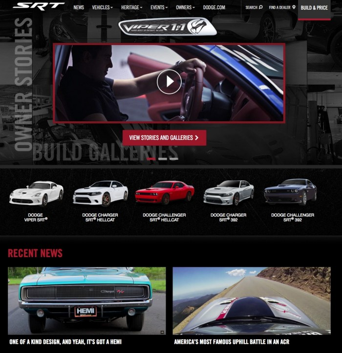 Muscle Car Of The Week on DRIVE SRT home page