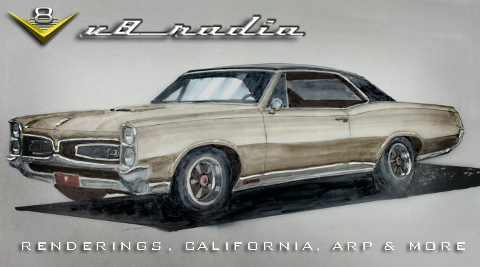 Kevin's Trip To SoCal, Car Renderings, The Cars of George Boskovich, The Latest From ARP, Automotive Trivia, and More on the V8 Radio Podcast!