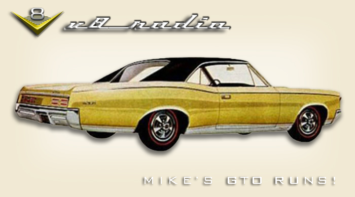 Mike's GTO Is Alive!  Street Machine Nationals, Automotive Trivia, and More on the V8 Radio Podcast