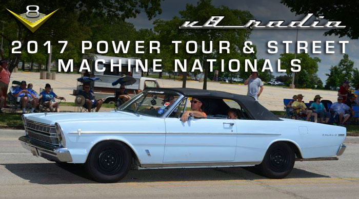 On the road at the Hot Power Tour and Street Machine Nationals with V8 Radio!