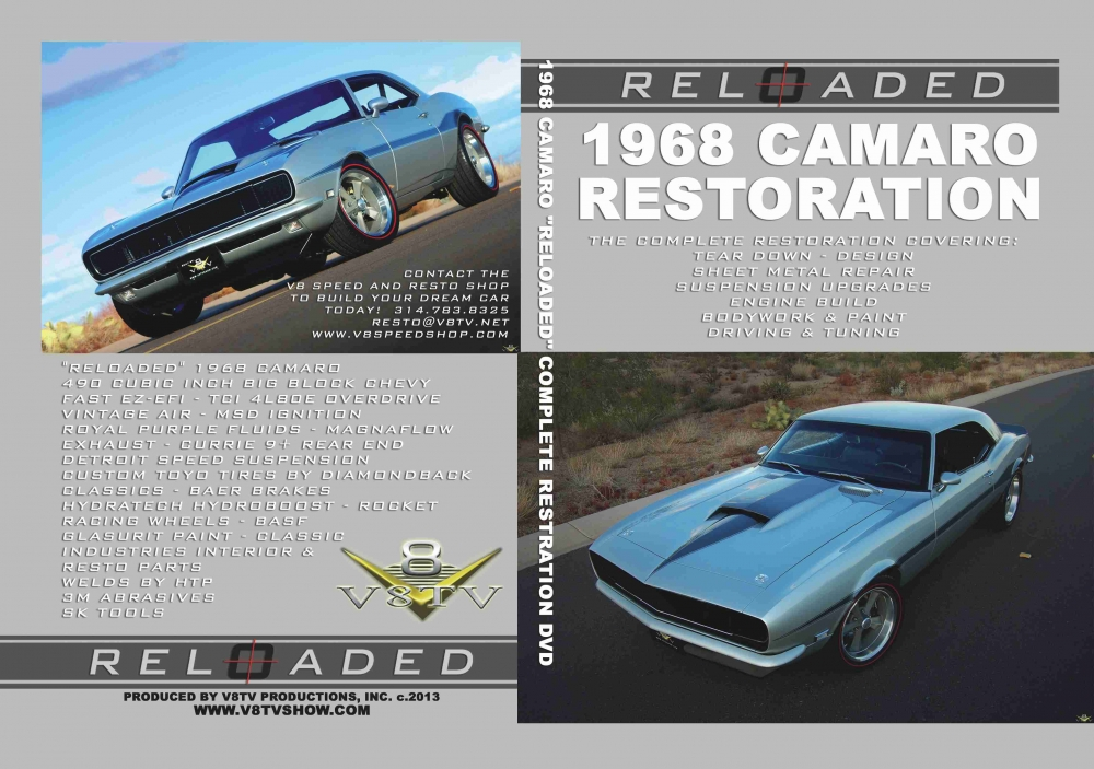1968 Camaro Reloaded Restoration DVD