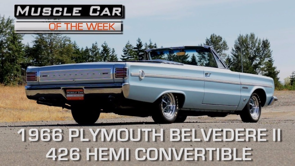 1966 Plymouth Belvedere II Convertible 426 Hemi: Muscle Car Of The Week Video Episode 228 V8TV