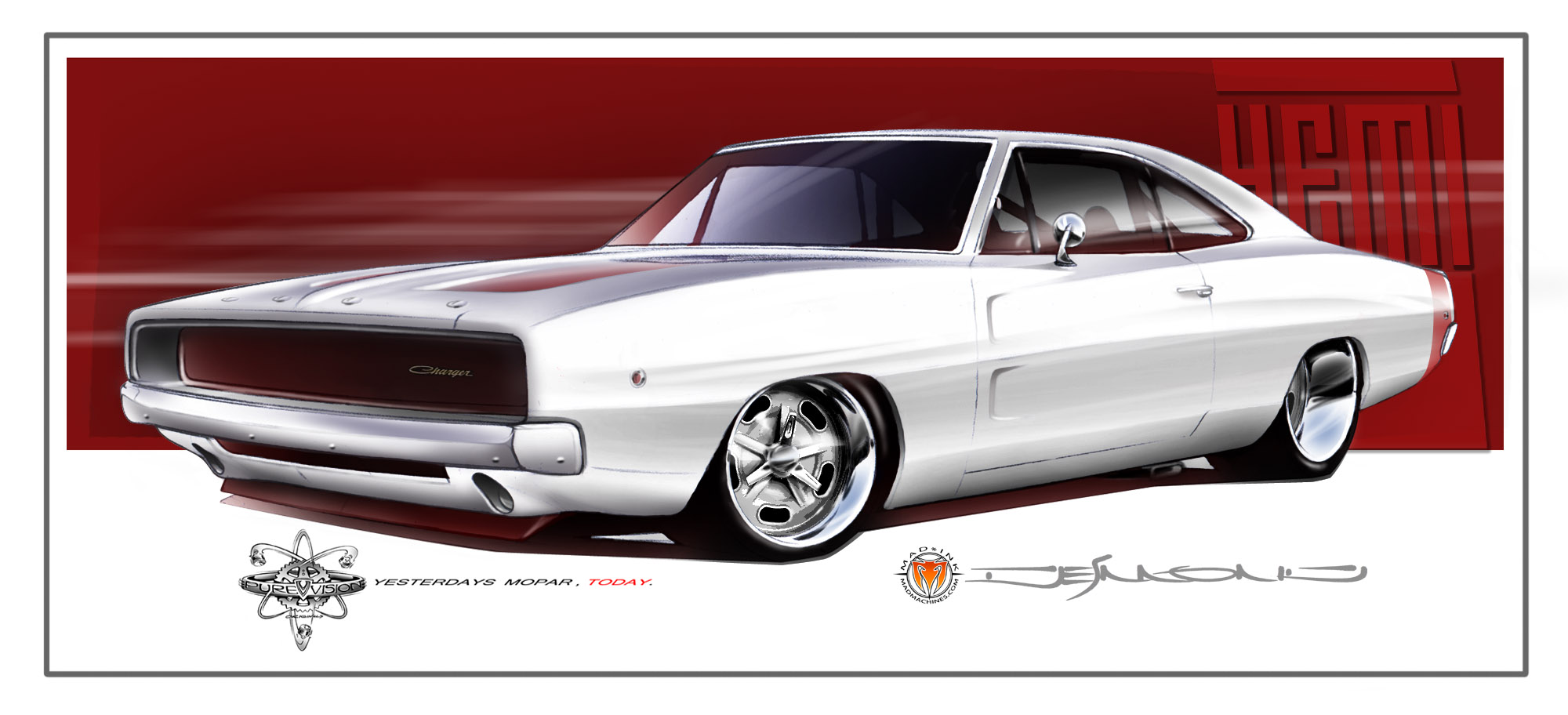 1968 charger wallpaper